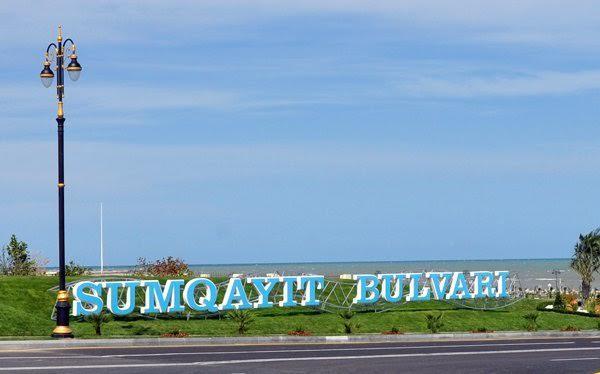 Sumqayıt Bulvarının 2 kilometri yoxa çıxdı - Foto