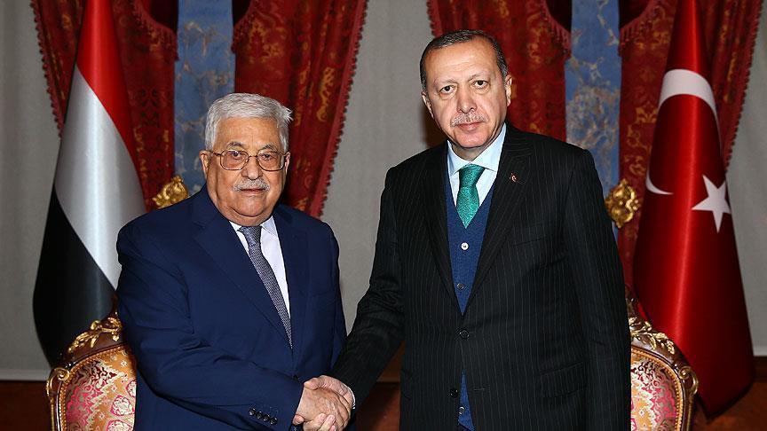 Эрдоган до начала саммита провел переговоры с Аббасом