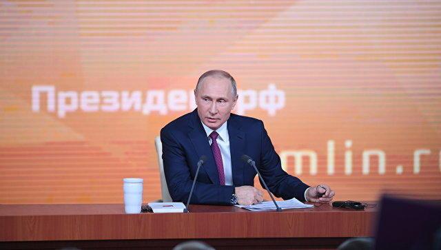 Путин расссказал анекдот про военные расходы  -