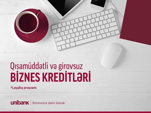 Unibank предлагает до 100 000 AZN кредита без залога