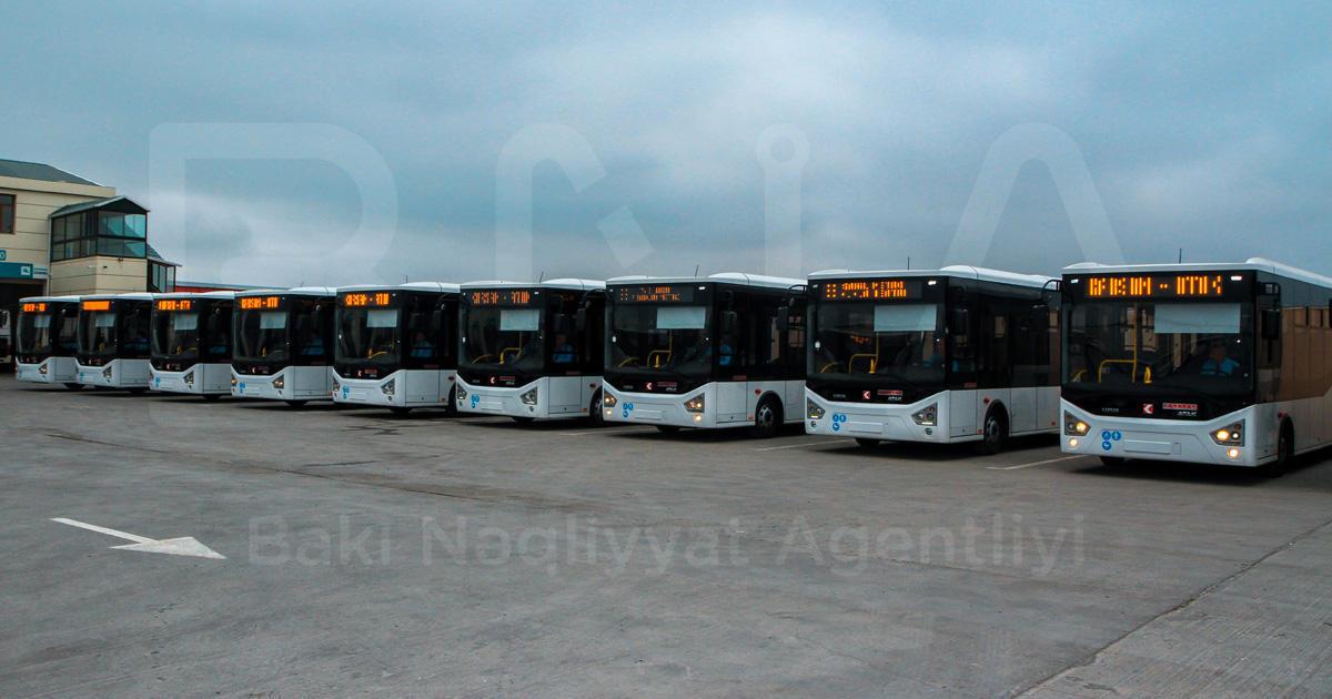 В Баку завезены новые автобусы - Фото