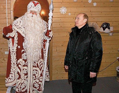 Дед Мороз пообещал подарок Путину