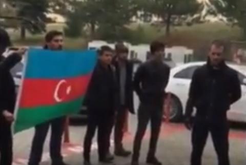 В Турции спустили флаг Азербайджана: Протест - Видео