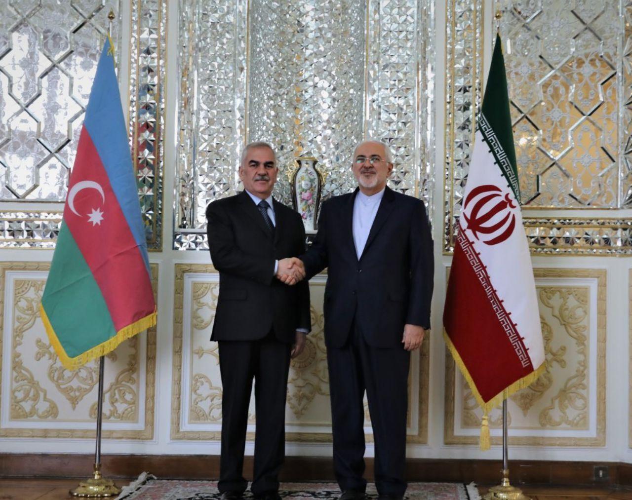 Vasif Talibov meets Iranian FM Mohammad Javad Zarif