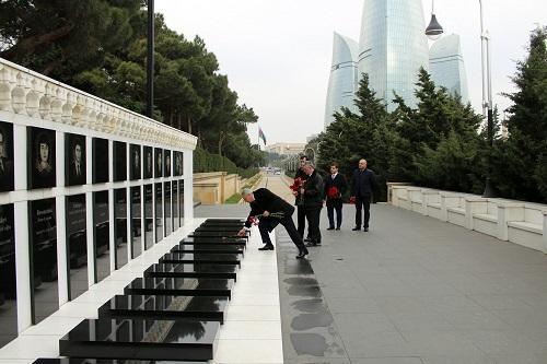 Yan Zahradil Şəhidlər Xiyabanında - Foto