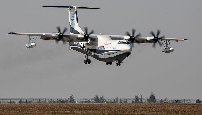 Chinese amphibious aircraft completes 1st takeoff