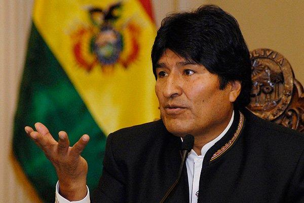 Evo Morales arrives in Mexico