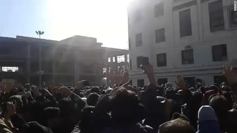Iran protests: Helicopter shootings -
