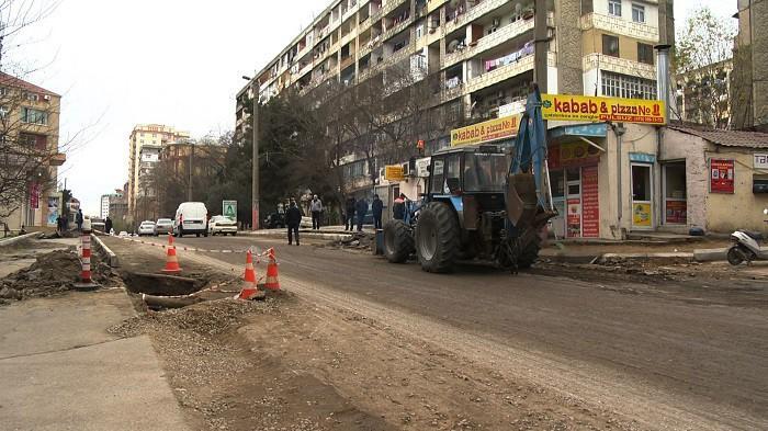 Mikayıl Müşfiq küçəsində təmir işləri nə vaxt yekunlaşır?
