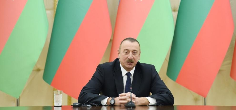 Ilham Aliyev has congratulated his counterpart