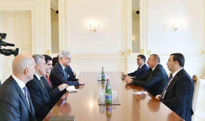 Ilham Aliyev receives Turkish parliamentary delegation