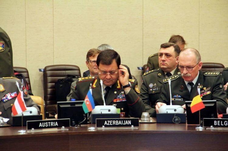 Nəcməddin Sadıkov NATO-nun iclasında - Foto