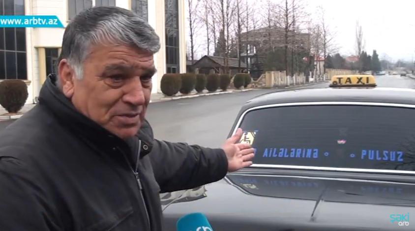 Şəhid ailələri üçün pulsuz taksi – Video