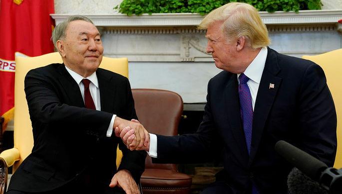 Трамп принял Назарбаева в Белом доме
