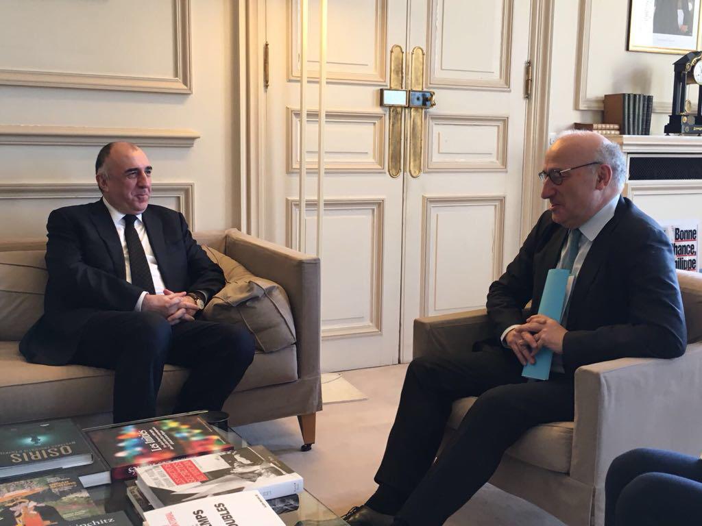 Мамедъяров встретился с советником президента Франции