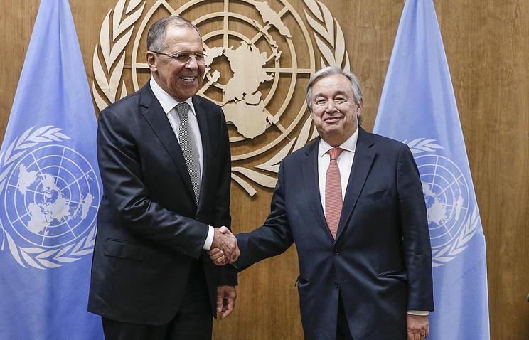 Лавров обсудил Сирию и Ливию с Гутерришем