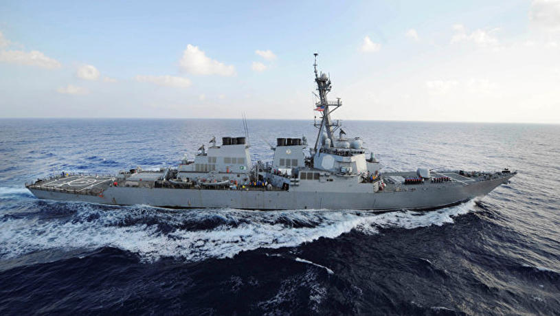 US warship violates Russian border