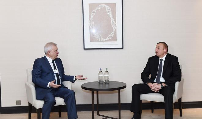 İlham Əliyev Davosda mühüm görüşlər keçirdi - Foto