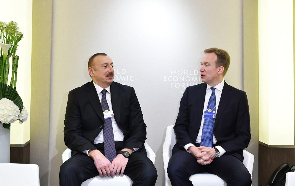Ilham Aliyev meets with Berg Brend  in Davos