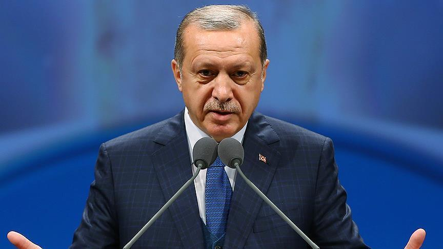 Erdogan speaks to media after attending Friday prayers
