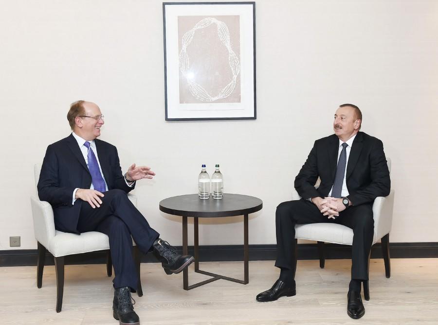 Ильхам Алиев на переговорах в Давосе - Обновлено