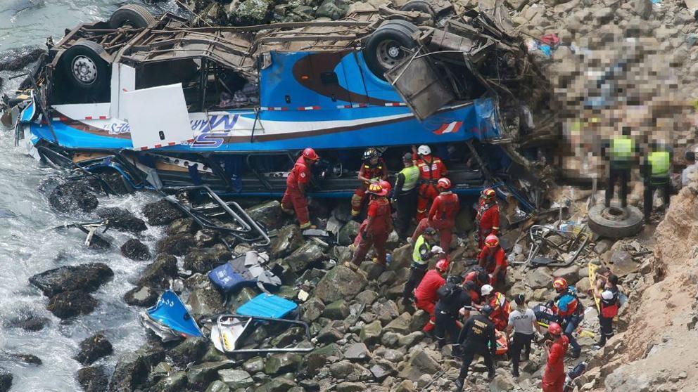 Автобус сорвался в пропасть, 13 погибших