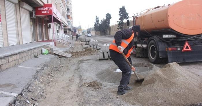 Diqqət: bu yolun təmiri 15 gün sonra bitəcək – Foto