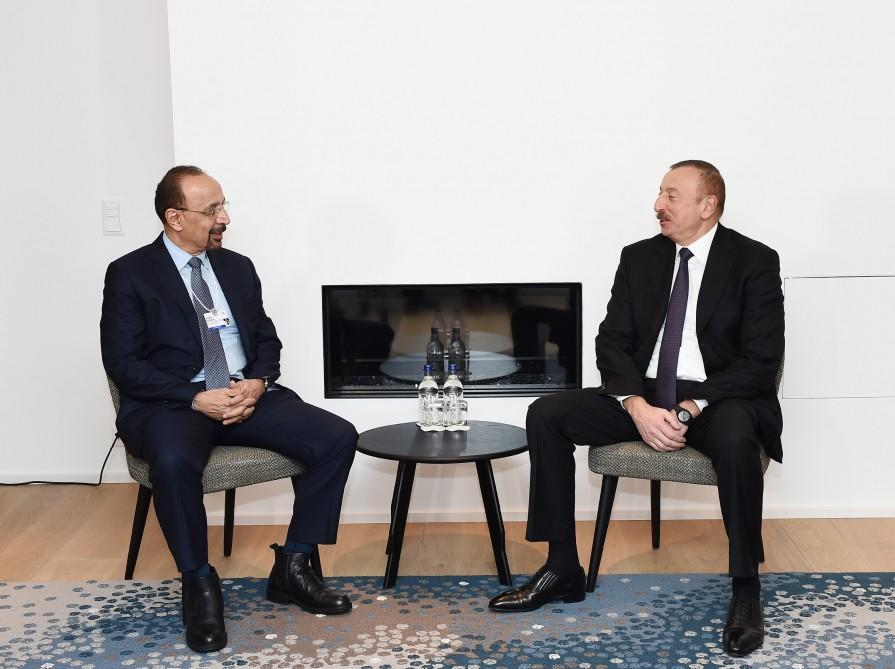 Ilham Aliyev met with Khalid Al-Falih in Davos