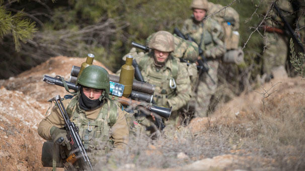 The Turkish army killed three terrorists