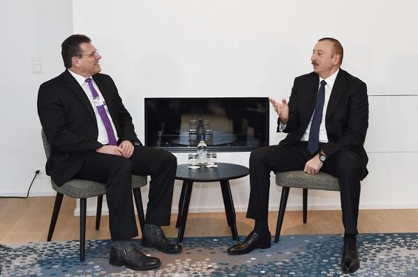 Ilham Aliyev met with Marosh Shevchovich
