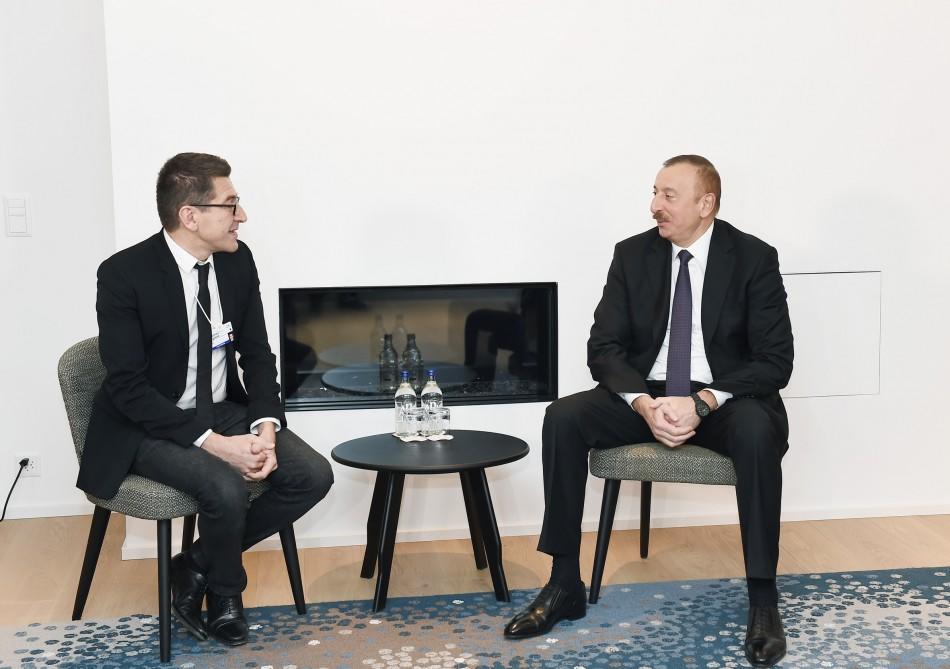 Ilham Aliyev met with Matthieu Pigasse