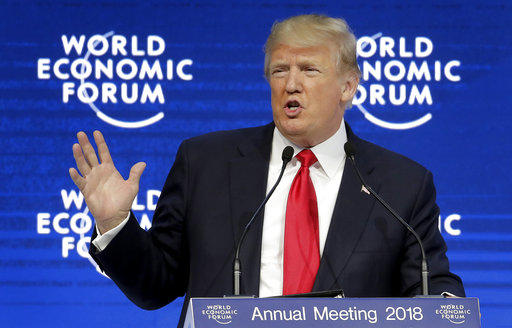 Trump is giving Davos speech -
