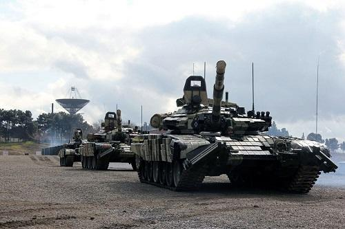 Combat readiness of tank crews are inspected -
