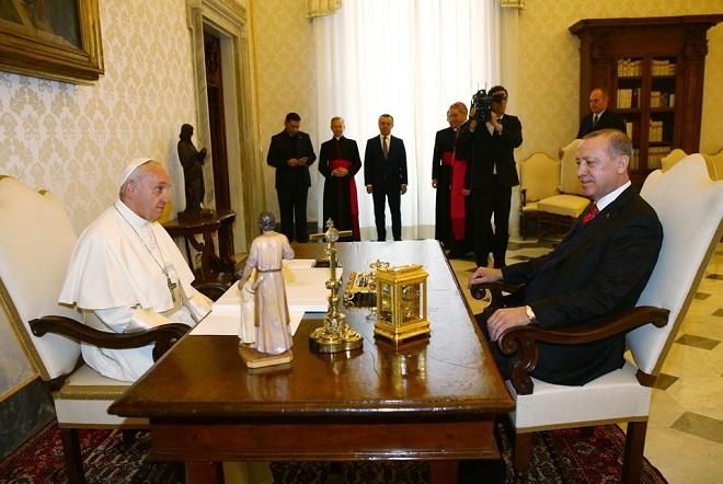 Erdogan conversed with the Pope