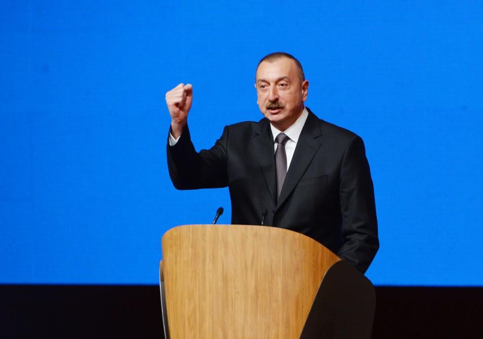Georgian websites wrote about Ilham Aliyev's speech