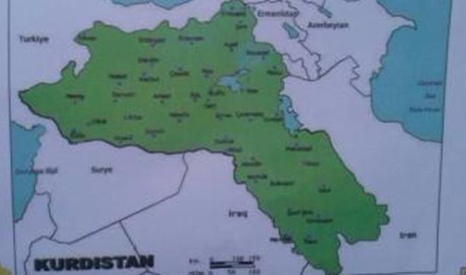 آذربایجان اراضیسی «قوندارما کوردستان» گؤستریلدی – شوک خریطه