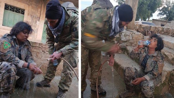 ASO hərbçisi terrorçuya görün nə etdi - Foto