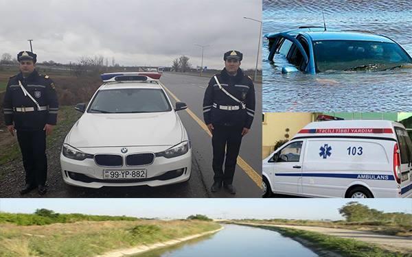 Ağdaşda polislər özlərini suya atdı - Video