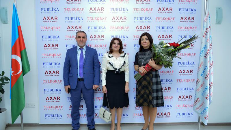 """Vüsalə Mahirqızı və Rauf Arifoğlu """"Gündəlik Teleqraf""""da - Foto"""