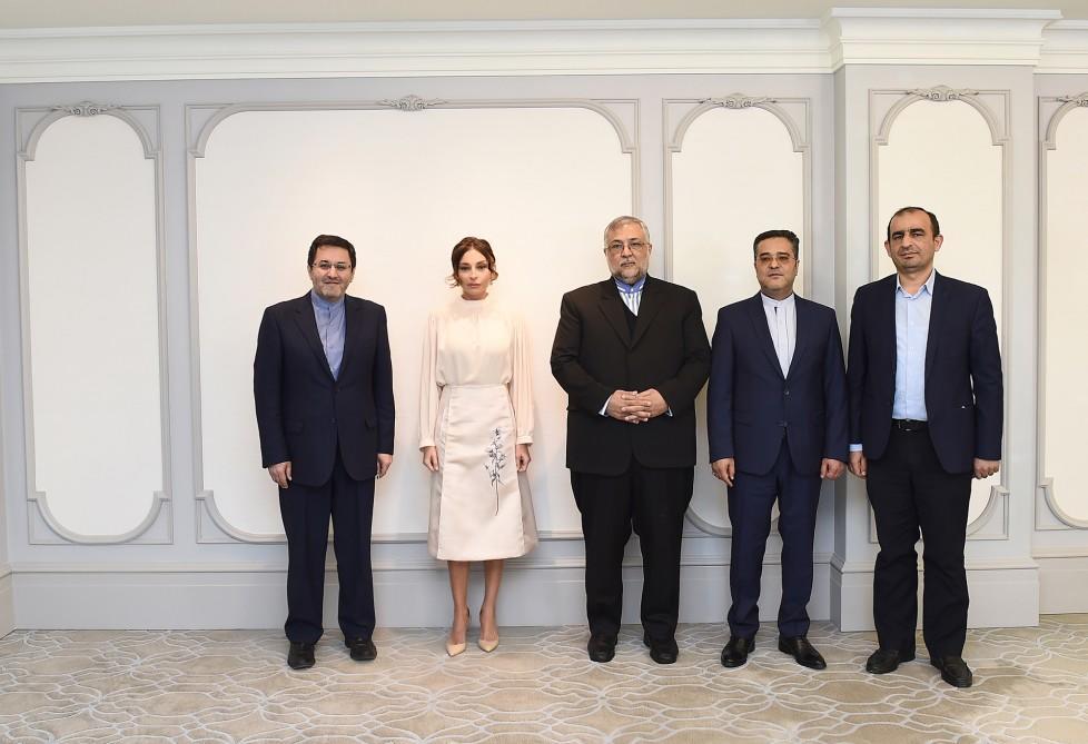 Мехрибан Алиева на переговорах с Туркаманом