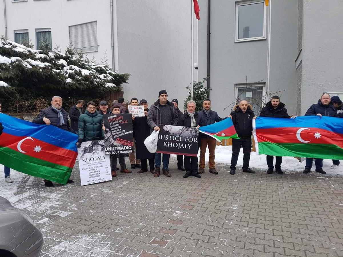 Азербайджанцы провели акцию протеста в Мюнхене