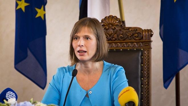The Estonian president has isolated himself