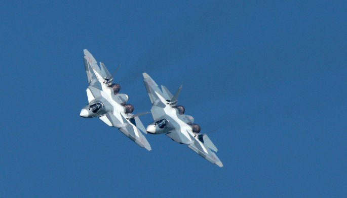 5th generation jets in the skies of Moscow -