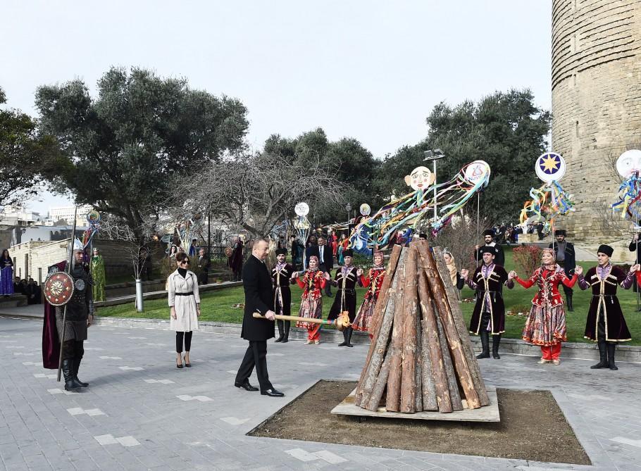 Prezident və xanımı Bakıda Novruz şənliyində