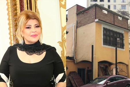 Mətanət İsgəndərlinin 3 mərtəbəli villasını sökdülər - Foto