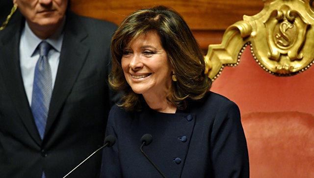 Председателем итальянского Сената впервые стала женщина