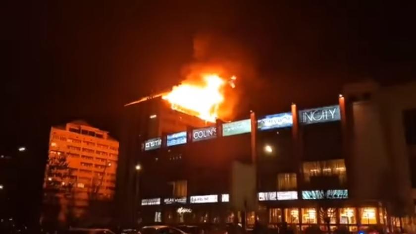 Telestudiyaların yerləşdiyi bina yandı