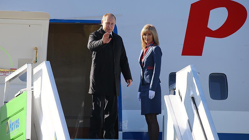 Путин прилетел в Сербию