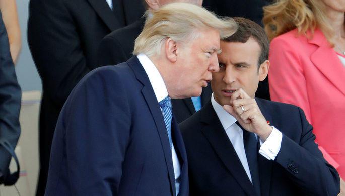 Трамп и Макрон охладели друг к другу
