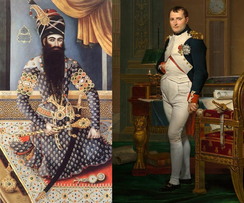 Napoleon bu rəsmi Fətəli şah üçün niyə çəkdirib? - Foto